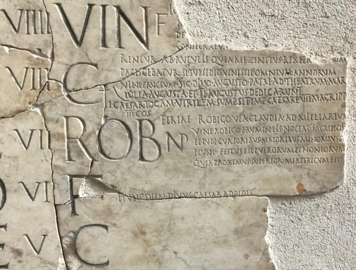 2017-07-21 10.50.53 Fasti Praenestini, Palazzo Massimo, Rome